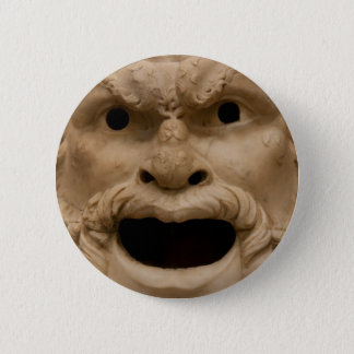 Ancient Satyr mask 2 Inch Round Button