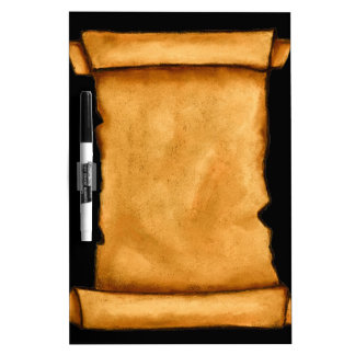 Ancient Scroll: Oil Pastel Artwork: Parchment Dry Erase Board