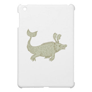Ancient Sea Monster Drawing iPad Mini Case
