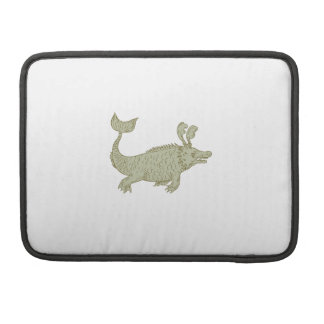 Ancient Sea Monster Drawing Sleeve For MacBook Pro
