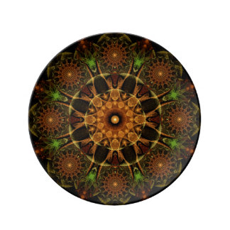 Ancient Seal Mandala Porcelain Plates