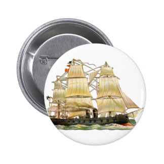 Ancient Ship 2 Inch Round Button