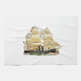 Ancient Ship Kitchen Towel