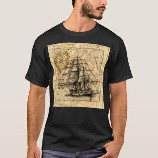 Ancient Ship Map T-Shirt