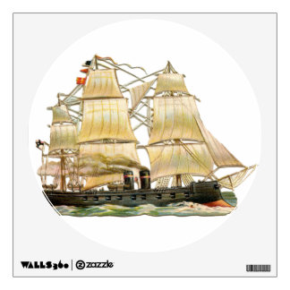 Ancient Ship Wall Sticker