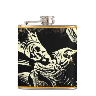 Ancient Skeleton King Hip Flask