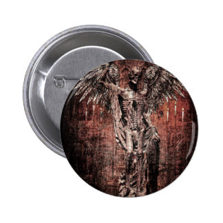 Ancient Skull Wing Dead Zombie 2 Inch Round Button