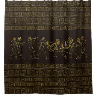 Ancient Sparta  Greece scene on greek pattern