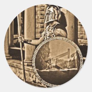 ancient spartan classic round sticker