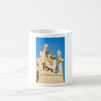 Ancient statue of philosopher in Athens, Greece Coffee Mug