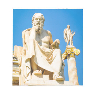 Ancient statue of philosopher in Athens, Greece Notepad