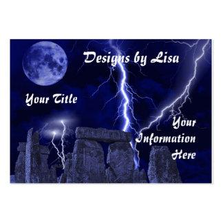 Ancient stone landscape profile/business card large business card