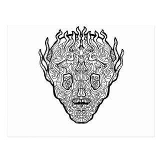 Ancient Sugar Skull Postcard