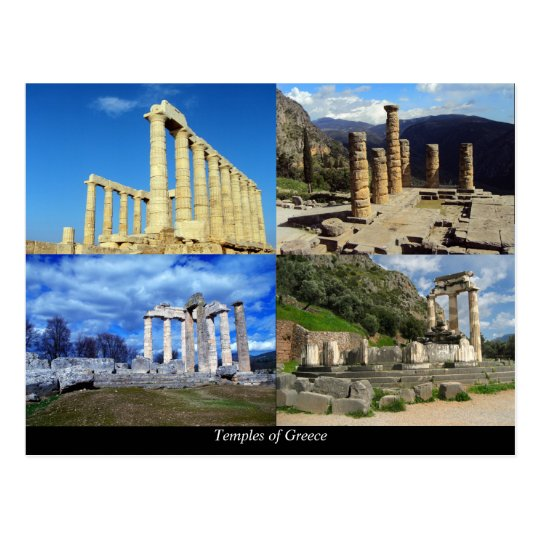 Ancient temples of Greece Postcard