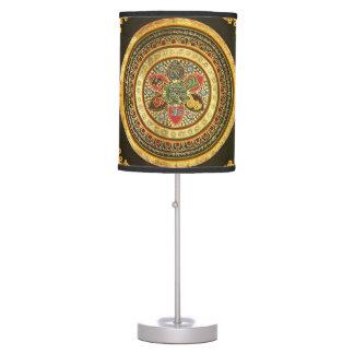 ANCIENT TIBETAN MANDALA TABLE LAMP