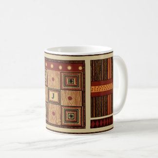 Ancient tribal design | personalize with monogram coffee mug
