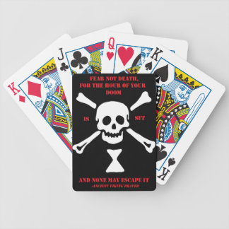 Ancient Viking Prayer...Fear Not Death Bicycle Playing Cards