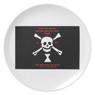 Ancient Viking Prayer...Fear Not Death Plate