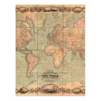 Ancient World Map 4 Postcard