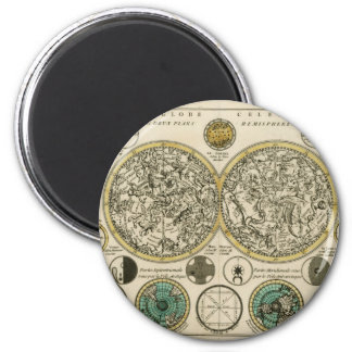Ancient World Map East and West 2 Inch Round Magnet