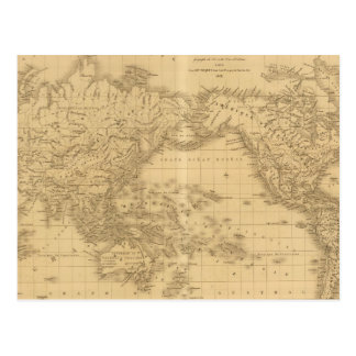 Ancient World Map Postcard