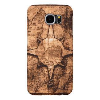 Ancient World Traveler - Map & Compass Rose Samsung Galaxy S6 Case