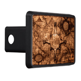 Ancient World Traveler - Map & Compass Rose Trailer Hitch Cover