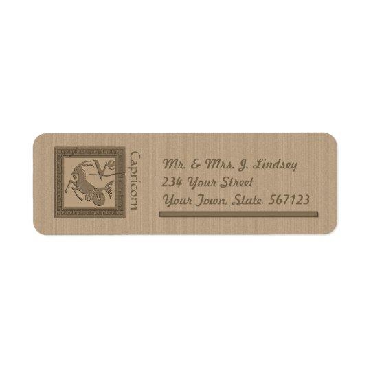 Ancient Zodiac -Capricorn Return Address Label