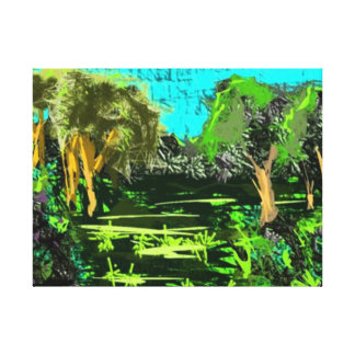 Ancil Hoffman Trees Canvas Print