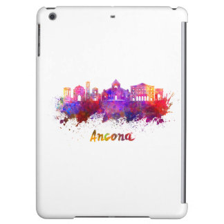 Ancona skyline in watercolor iPad air covers