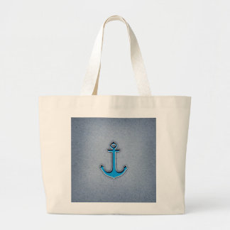 Ancre à la mode mignonne de coeur de papier bleu sacs