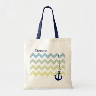 ancre de bleu marine personnalisée sacs