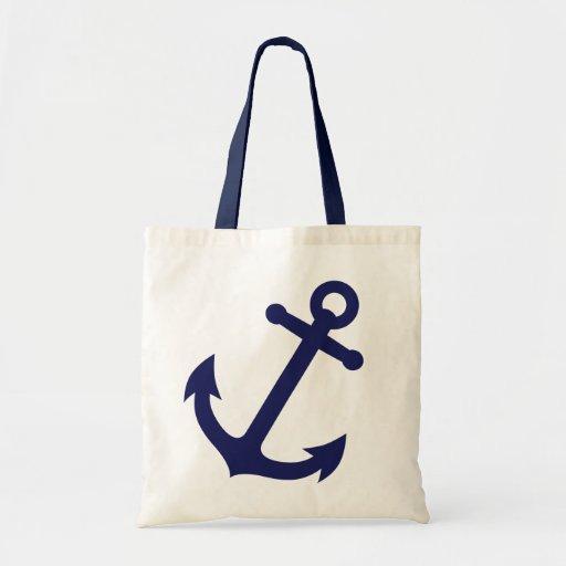 Ancre de bleu marine sac de toile