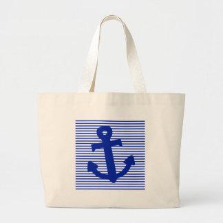 Ancre de rayure bleue sac