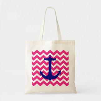 Ancre nautique bleue et sac fourre-tout rose à