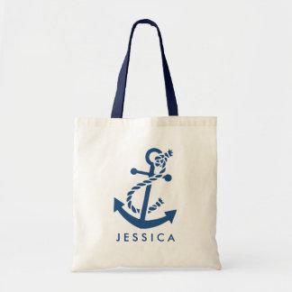 Ancre nautique de bleu marine sac en toile budget