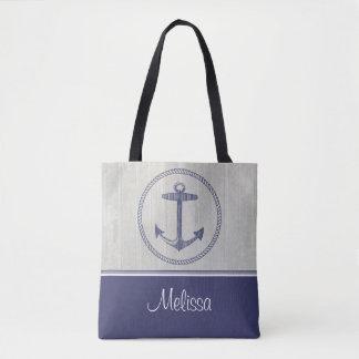 Ancre nautique | personnalisé sac
