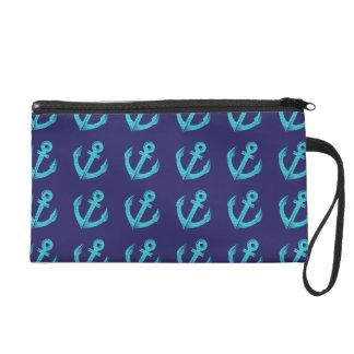 Ancres bleues pochettes avec dragonne