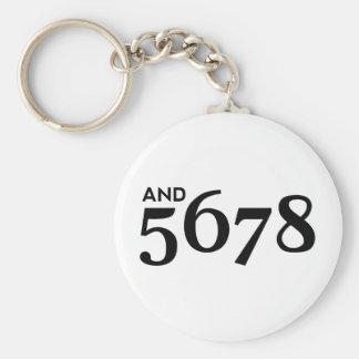 And 5678 keychain