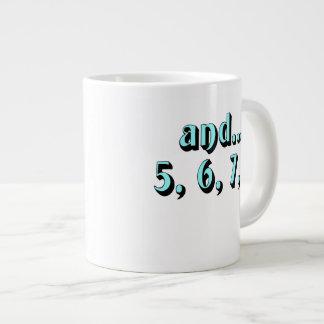 and...5, 6, 7, 8 large coffee mug