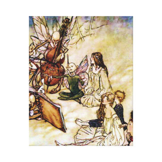 And a Fairy Song by Arthur Rackham Stretched Canvas Print