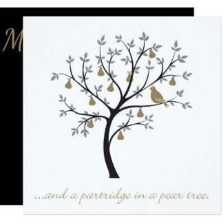 And a partridge in a pear tree card