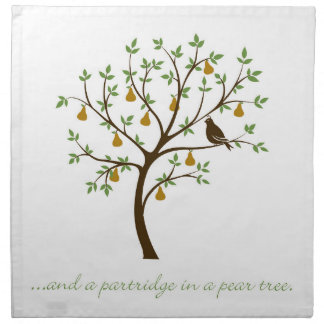 And a partridge in a pear tree napkin