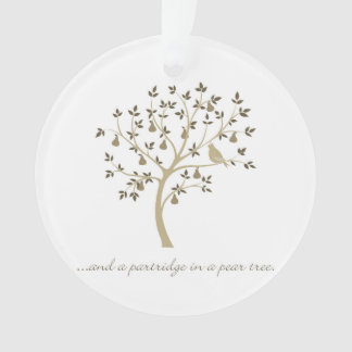 And a partridge in a pear tree ornament