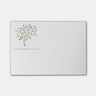 And a partridge in a pear tree post-it® notes