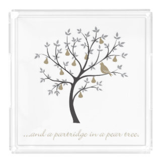 And a partridge in a pear tree serving tray