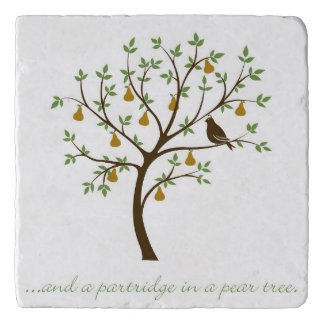 And a partridge in a pear tree trivet