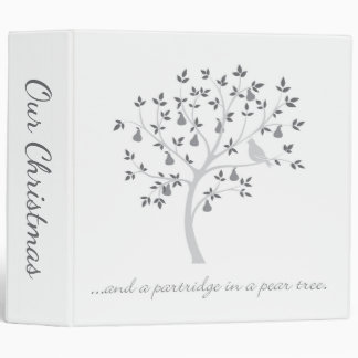And a partridge in a pear tree vinyl binder