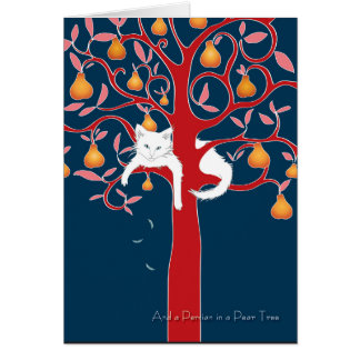 And a Persian in a Pear Tree... Holiday Card