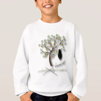 And a vampire in a pear tree sweatshirt